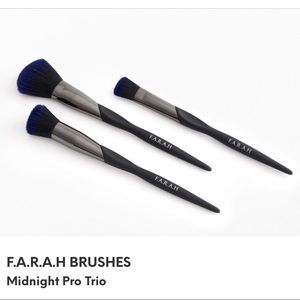 ♦️3/$15♦️F.A.R.A.H Midnight Pro Trio Of Brushes